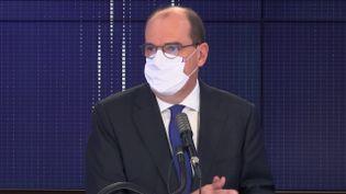 """Jean Castex, Premier ministre, était l'invité du """"8h30 franceinfo"""", lundi 12 octobre 2020. (FRANCEINFO / RADIOFRANCE)"""