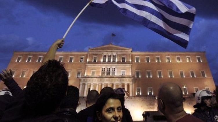 Manif devant le parlement athénien (archives) (AFP/ARIS MESSINIS)