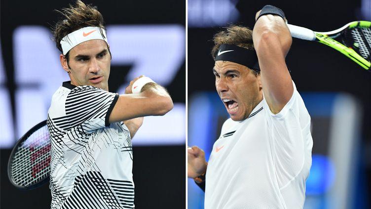 Roger Federer face à Rafael Nadal, l'un des plus grands duels de l'histoire du tennis
