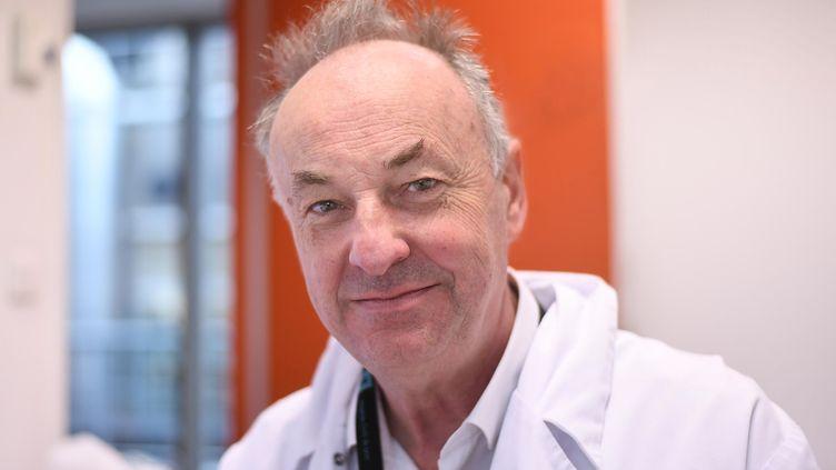 Le professeur et virologue Bruno Lina, le 22 janvier 2021. (JOEL PHILIPPON / MAXPPP)