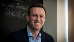 L'opposant russe Alexeï Navalny lors d'une interview avec l'AFP à Moscou, en Russie, le 16 janvier 2018. (MLADEN ANTONOV / AFP)