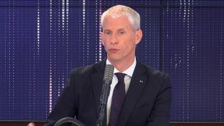 Franck Riester, ministre de la Culture, était l'invité de franceinfo, mardi 26 mai 2020. (FRANCEINFO / RADIOFRANCE)