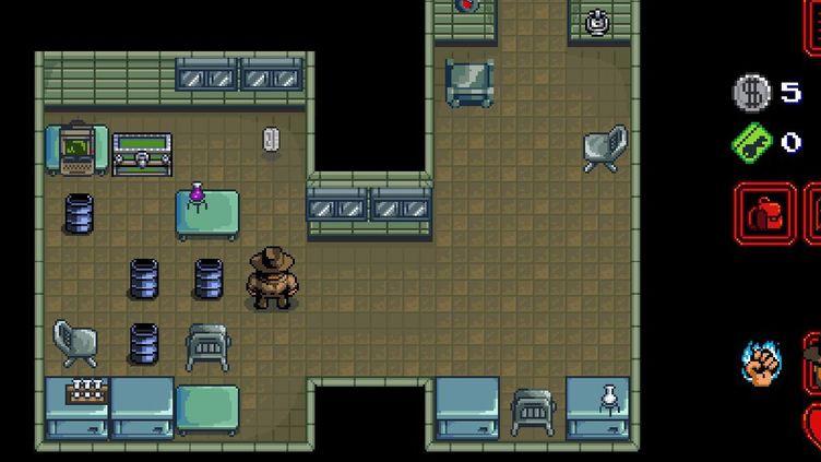 """Dans le jeu pour mobile """"Stranger Things"""", le personnage de Jim Hopper dans le laboratoire de Hawkins.  (Netflix/ BonusXP)"""