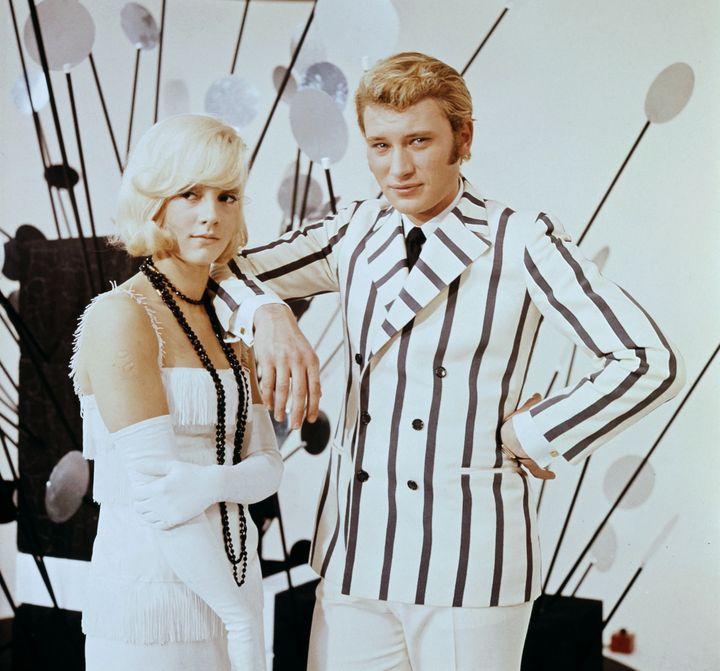 Sylvie Vartan et Johnny Hallyday dans les années 60  (UPI / AFP)