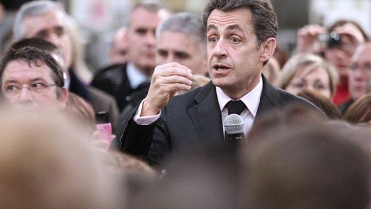 Nicolas Sarkozy à Montmirail (Marne), le 15 janvier 2011 (AFP PHOTO / FRANCOIS NASCIMBENI)
