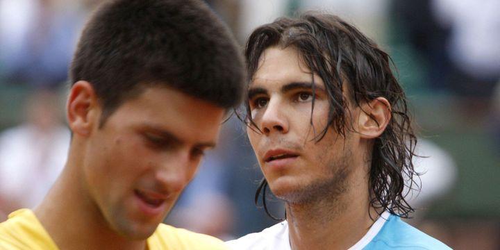 Novak Djokovic face à Rafael Nadal en 2007