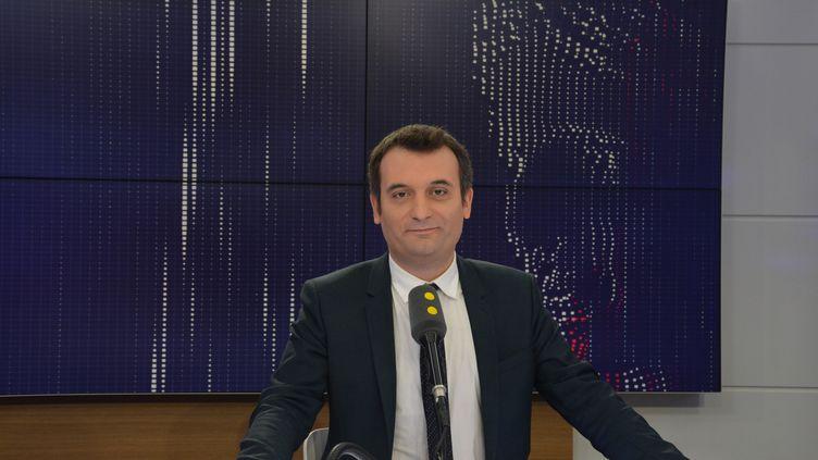 Florian Philippot, président des Patriotes. (JEAN-CHRISTOPHE BOURDILLAT / RADIO FRANCE)