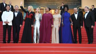 Des membres du jury du festival de Cannes, le 19 mai 2018. (ANNE-CHRISTINE POUJOULAT / AFP)