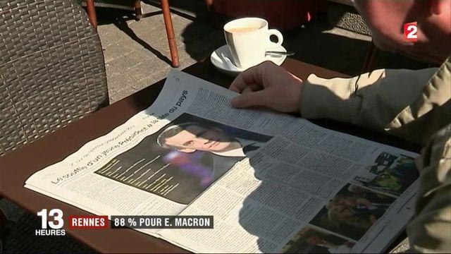 Rennes : 88% pour Emmanuel Macron