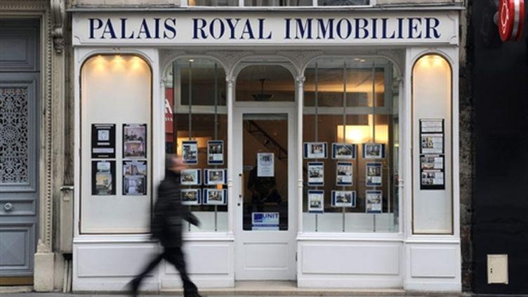 Agence immobilière située dans le centre de Paris.(2010) (AFP)