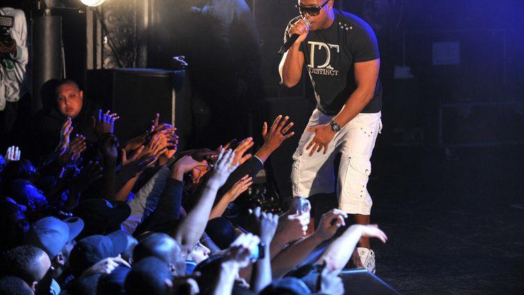 Le rappeur Rohff lors d'un concert à la Cigale (Paris), le 15 avril 2011. (LORENVU / SIPA)