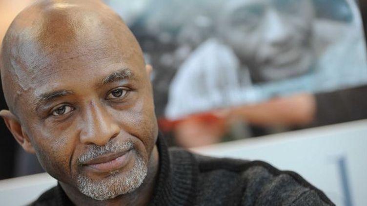 L'écrivain guinéen Libar Fofana au Salon du livre de Paris en mars 2008  (Baltel / SIPA)
