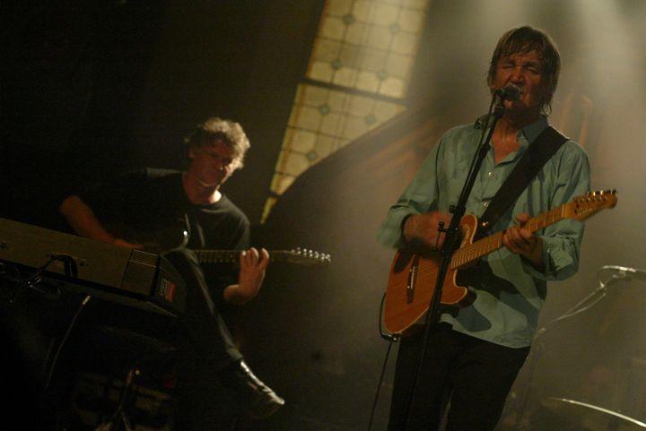 """Jacques Higelin et Rodolphe Burger en concert à Sainte-Marie-aux-Mines en 2005 pour le Festival """"Dans la Vallée""""  (PHOTOPQR/L'ALSACE)"""