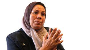 Latifa Ibn Ziaten, mère d'Imad, militaire français et première victime de Mohamed Merah, le 8 juin 2012. (DELPHINE GOLDSZTEJN / MAXPPP)