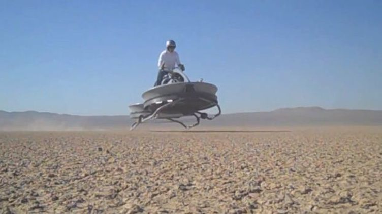 L'engin de la société Aeroflex, testé dans le désert de Mojave, en Californie (Etats-Unis). (CAPTURE D'ÉCRAN YOUTUBE)