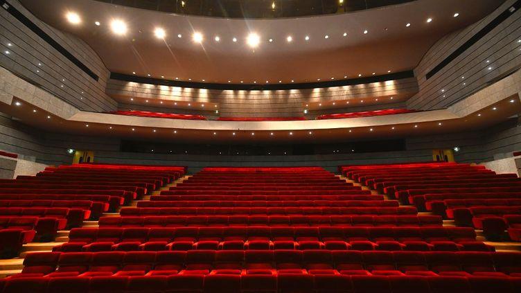 La salle du théâtre, Scène Nationale, de Mulhouse, fermée à cause de l'épidémie de Covid-19. (SEBASTIEN BOZON / AFP)