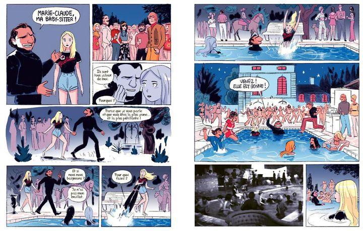"""Une double-page du roman graphique de Yann Le Quellec et Romain Ronzeau """"Les Amants d'Hérouville - Une histoire vraie"""". (YANN LE QUELLEC ET ROMAIN RONZEAU : DELCOURT)"""