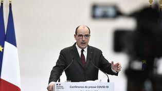 Le Premier ministre Jean Castex, le 25 février 2021 à Paris. (STEPHANE DE SAKUTIN / POOL / AFP)