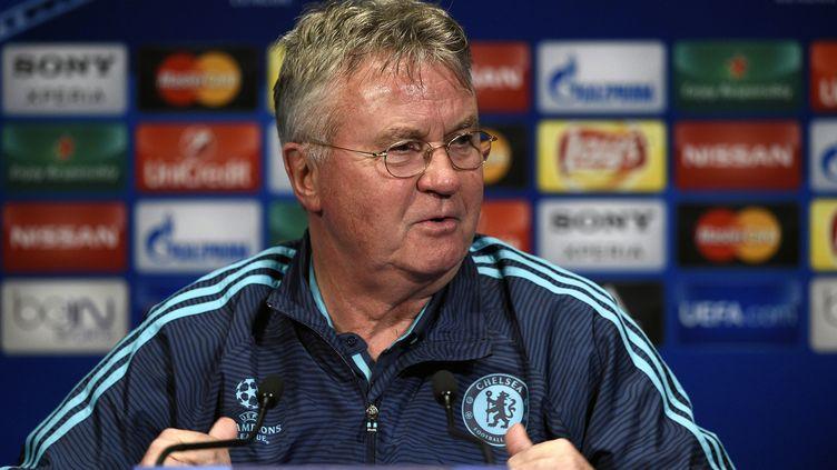 Guus Hiddink, l'entraîneur de Chelsea (FRANCK FIFE / AFP)