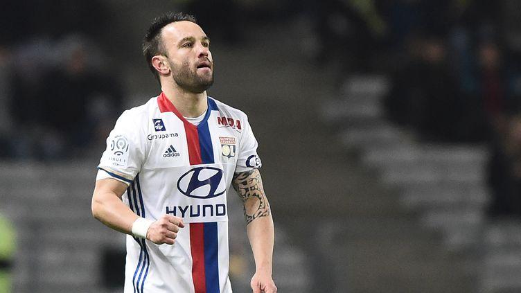 Le joueur de l'OL, Mathieu Valbuena (JEAN-SEBASTIEN EVRARD / AFP)