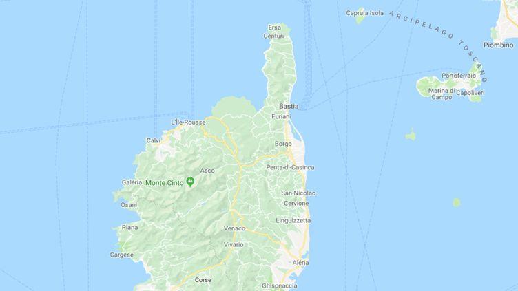 Des rafales à plus de 150 km/h ont été relevées sur le Cap corse, lundi 29 octobre 2018. (GOOGLE MAPS)