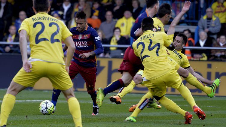 Neymar et le Barça ont buté sur Villarreal (JOSE JORDAN / AFP)