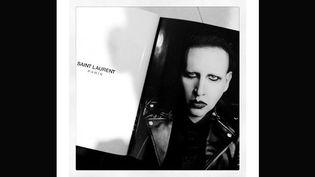Marilyn Manson, égérie de Saint Laurent. Photo postée sur le compte tweeter du chanteur le 2 avril 2013