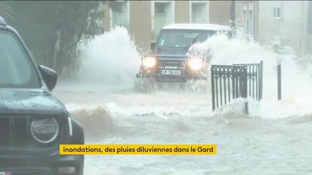 Intempéries : pluies diluviennes dans le Gard, un disparu