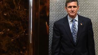 Michael Flynn, conseiller à la Sécurité nationale de Donald Trump, a démissionné de son poste, lundi 13 février 2017. (TIMOTHY A. CLARY / AFP)