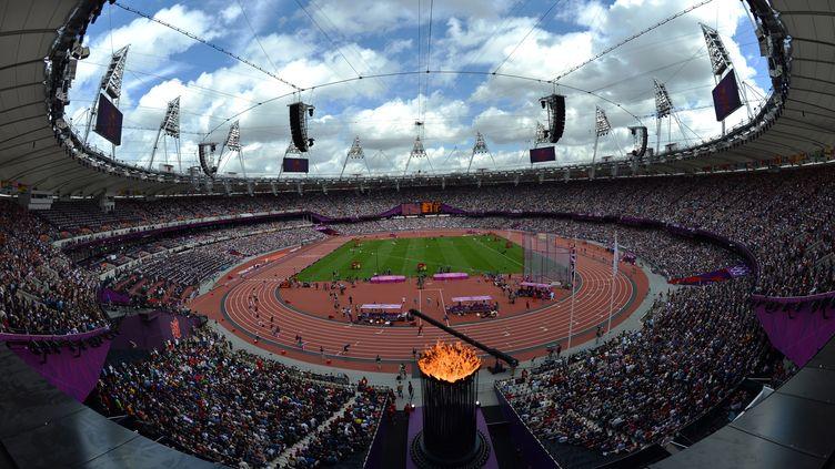 Le stade olympique de Londres (Royaume-Uni), durant les Jeux olympiques, le 3 août 2012. (JEWEL SAMAD / AFP)