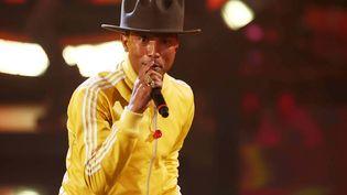 """Pharrell Williams avec son désormais célèbre """"buffalo"""", le 22 février 2014. (DDP IMAGES EDITORIAL/SIPA)"""