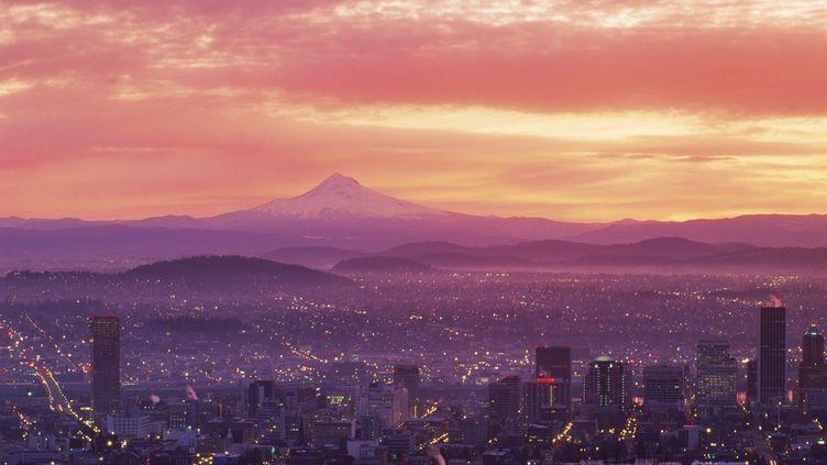 La ville de Portland (Etats-Unis), d'où a été postée la carte postale en 1940. (CHAD EHLERS / TIPS / AFP)