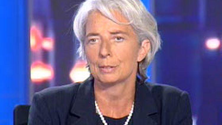 """La ministre de l'Economie, Christine Lagarde, a dit s'attendre à un """"chiffre positif"""" pour la fin de l'année. (© France 2)"""
