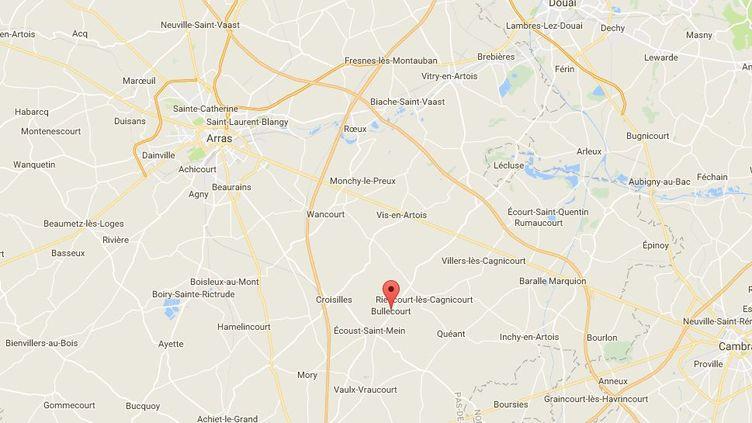Le sauvetage de la famille a eu lieu à Bullecourt, près d'Arras. (CAPTURE ECRAN GOOGLE MAPS)