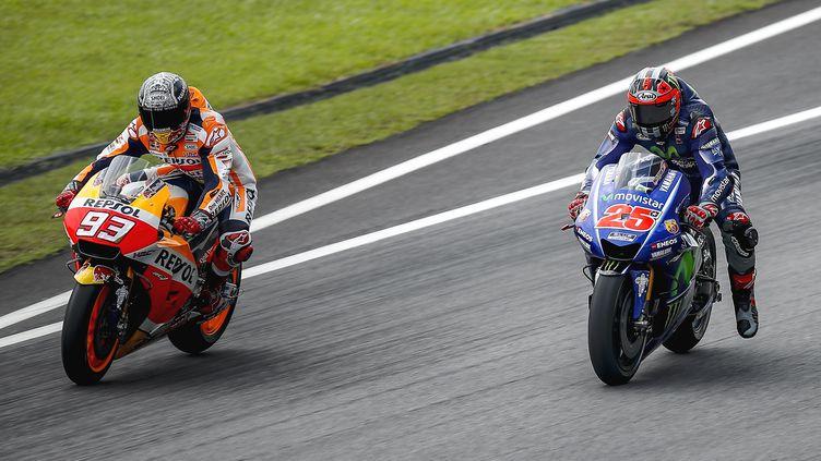 Le duel entre Marc Marquez (Honda) et Maverick Vinales (Yamaha) va animer la saison 2017 du MotoGP (GIGI SOLDANO / DPPI MEDIA)