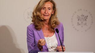 La ministre de la Justice, Nicole Belloubet, le 28 août 2019 à Paris. (LUDOVIC MARIN / AFP)