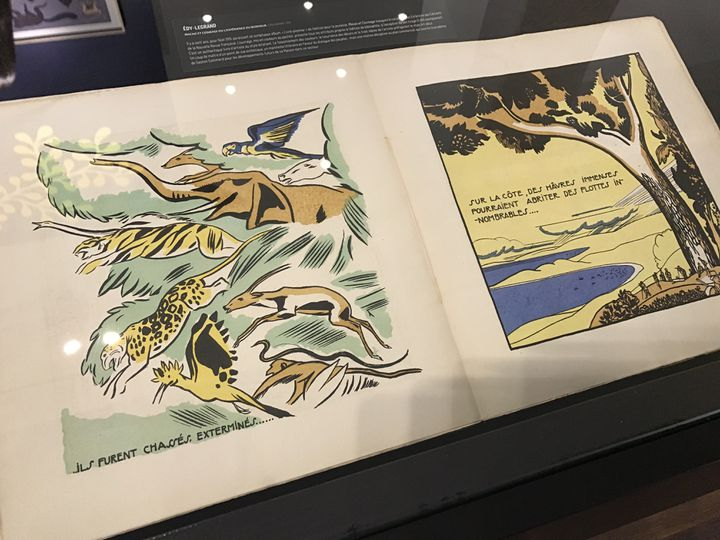 """""""Macao et Cosmage"""", Edy Legrand (NRF), exposé à la Galerie Gallimard, avril 2019 (Laurence Houot / franceinfo culture)"""
