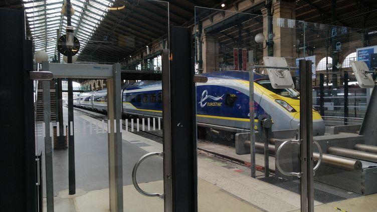 Un train Eurostar en gare du Nord à Paris. Photo d'illustration. (CYRILLE ARDAUD / RADIO FRANCE)