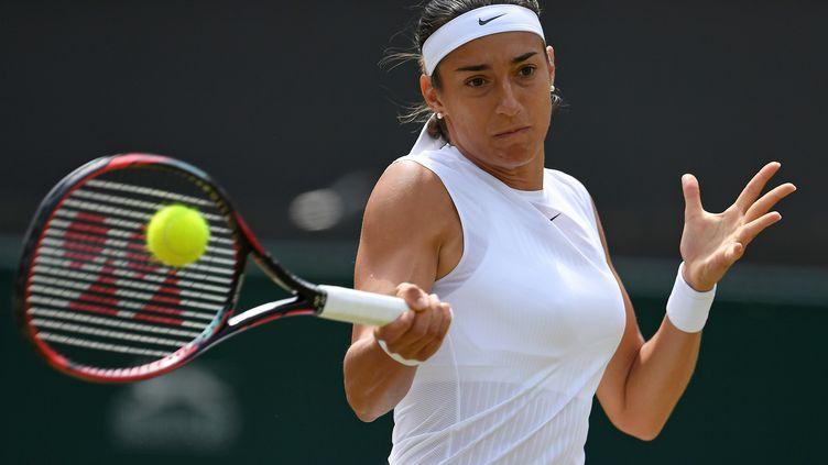 Caroline Garcia est en huitièmes de finale du tournoi de Toronto (GLYN KIRK / AFP)