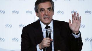 François Fillon, mardi 31 janvier lors d'une réunion devant les entrepreneurs (Thomas Samson / AFP)