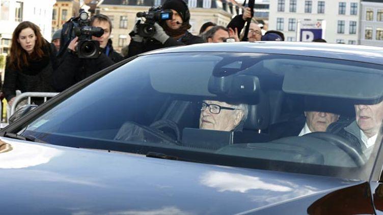 (Arrivée discrète de DSK au tribunal de Lille lundi © REUTERS / Pascal Rossignol)