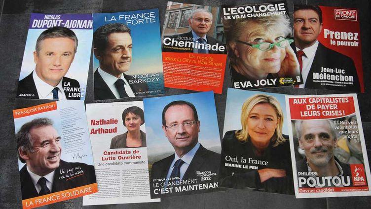 (Les programmes des candidats en 2012 © MaxPPP)