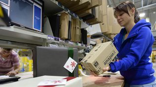 Centre de livraison Amazon en Allemagne en novembre 2014.  (HENDRIK SCHMIDT / DPA / dpa Picture-Alliance)