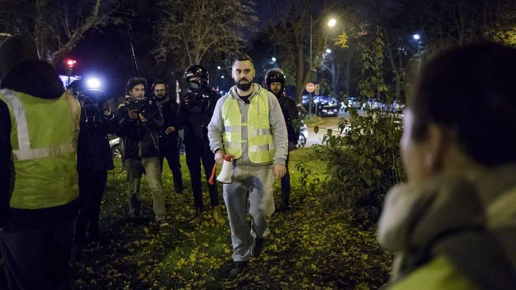 Eric Drouet, le 17 novembre à Paris (CHRISTOPHE PETIT TESSON / EPA)