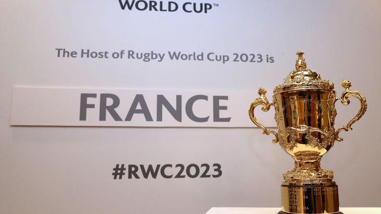 Le trophée Webb-Ellis, offert au vainqueur de la Coupe du monde de rugby (HANDOUT / WORLD RUGBY)