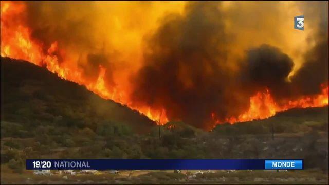 Incendie : les flammes brûlent tout à l'est de Los Angeles