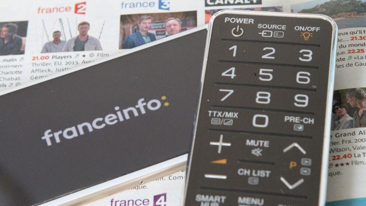 Le basculement de France 4 en tout numérique libère le canal 14 de la TNT, ce qui pourrait profiter àla chaîne franceinfo, lancée fin 2016 tout au bout de la TNT, sur le canal 27 (Illustration). (JEAN-FRANÇOIS FREY / MAXPPP)