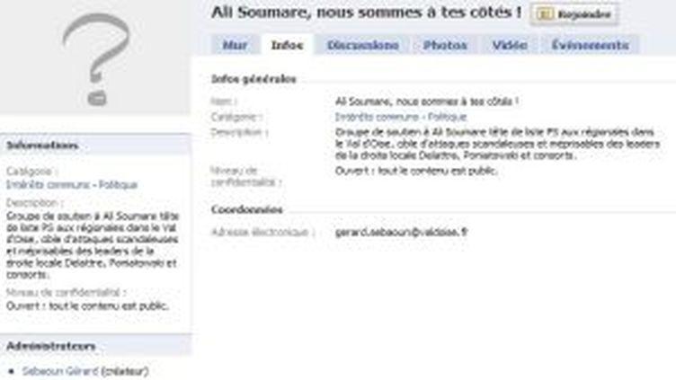 Ali Soumaré (PS) soutenu sur Facebook