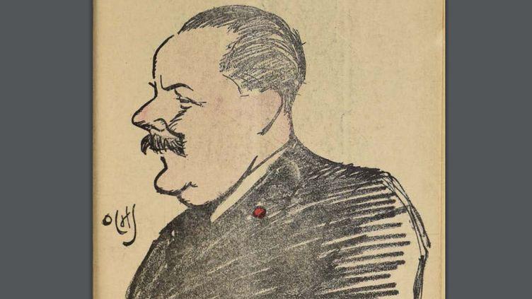 """Caricature de Maurice de Waleffe en couverture du n°629 de la revue belge """"Pourquoi pas ?"""" d'août 1926, illustrée par Jacques Ochs. (JACQUES OCHS / POURQUOI PAS)"""