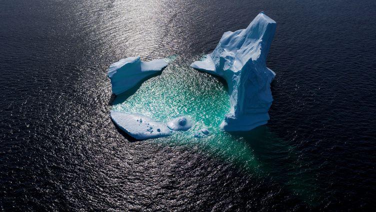 Un iceberg dans la baie de Bonavista (Canada), le 29 juin 2019. (JOHANNES EISELE / AFP)
